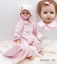 Dollhouse 50 cm Silicone reborn bébé poupées 20 pouce vrais bébés Fille Poupée jouets réaliste vinyle tissu poupée jouets pour enfants cadeau