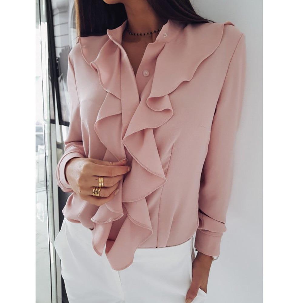 2019 eleganckie kobiety bluzka biurowa koszule damskie  DksbI
