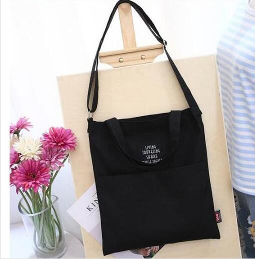 Black Korean Over Shoulder Bags Women Female Canvas Crossed Body Crossbody Handbags цена 2017
