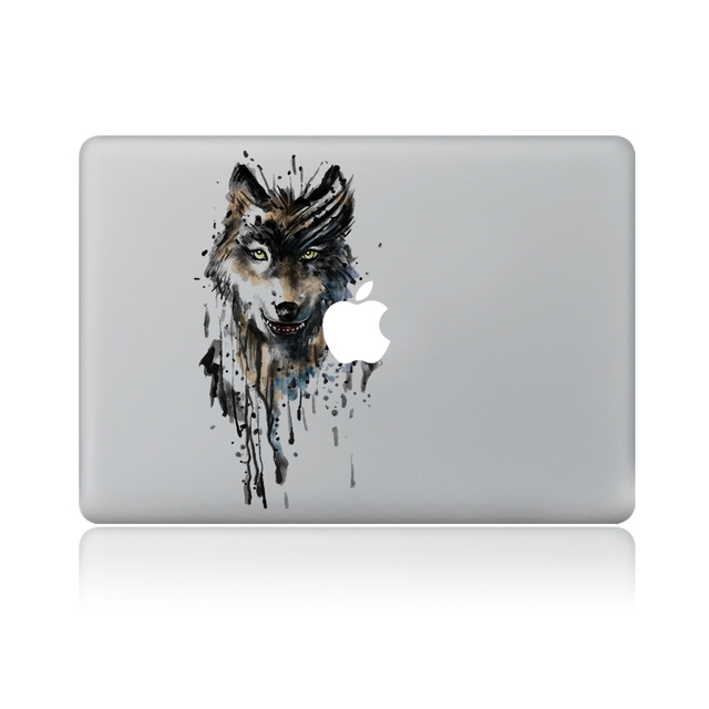 Serigala mata vinyl decal sticker laptop untuk macbook pro air 13 inch kartun laptop kulit shell