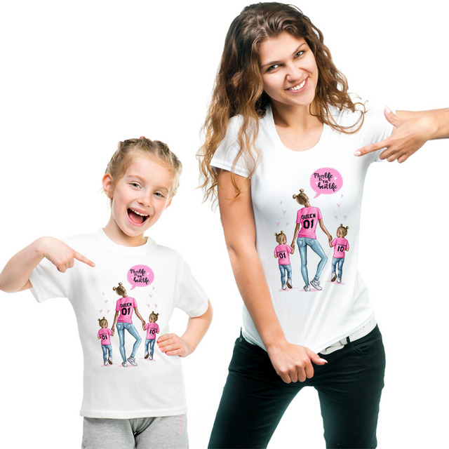 2019 New print family t shirt mommy and me clothes short sleeve cotton matching family outfits QT-1924 1