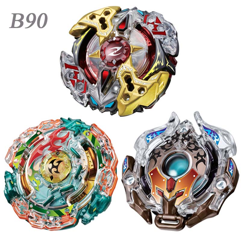 цены 3pcs/set Spinning Top Beyblade B90 With Launcher And Original Box Metal ABS Fusion 4D Classic Toys Gift For Children Adults