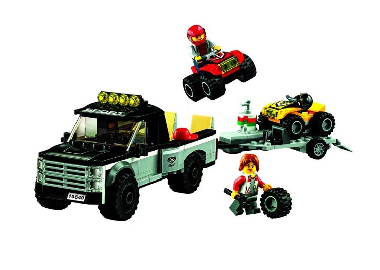 Bela 10649 City Series ATV Race Team Trailer Hitch Detachable Trailer Building Block 253pcs Bricks Toys Gift For Children 60148 конструктор ogobild bits hitch 20 элементов