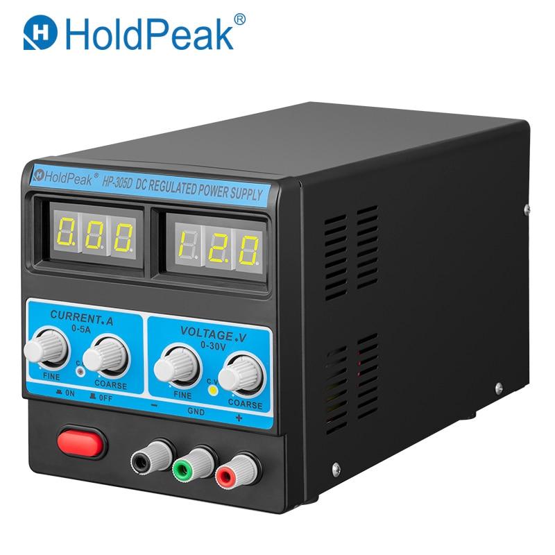 HoldPeak HP-305 Precision Adjustable Digital Programmable DC Power Supply Laboratory Power Supply 30V Mobile phone repair tools mobile phone repair adjustable dc power supply 15v3a linear digital pointer power ammeter