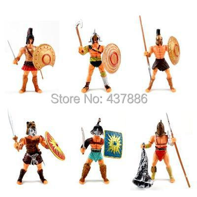boyfriend kids christmas year hot toys gift action figure six armed static ancient roman gladiators soldier