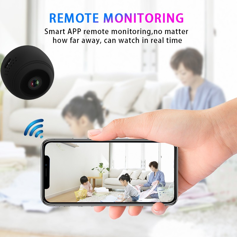 Mini Sans Fil WiFi caméra 1080 P caméra ip hd moniteur à distance caméra de sécurité de Détection de Mouvement vision nocturne caméscope À La Maison caméra ip - 3