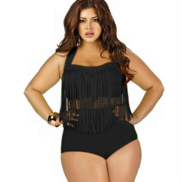 f255f65d01 Plus Size Swimwear High Waisted Bikini Set Women Swimsuit Female Bathing  Suits Black White Bikinis Push Up Sexy Beach Swim Suit