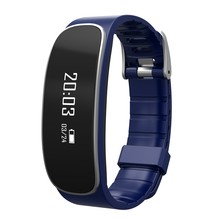 2016 New Sport Bluetooth Health Smart Band Bracelet Pedometer Heart Rate Monitor Fitness Tracker Band Health For Iphone Blue H29