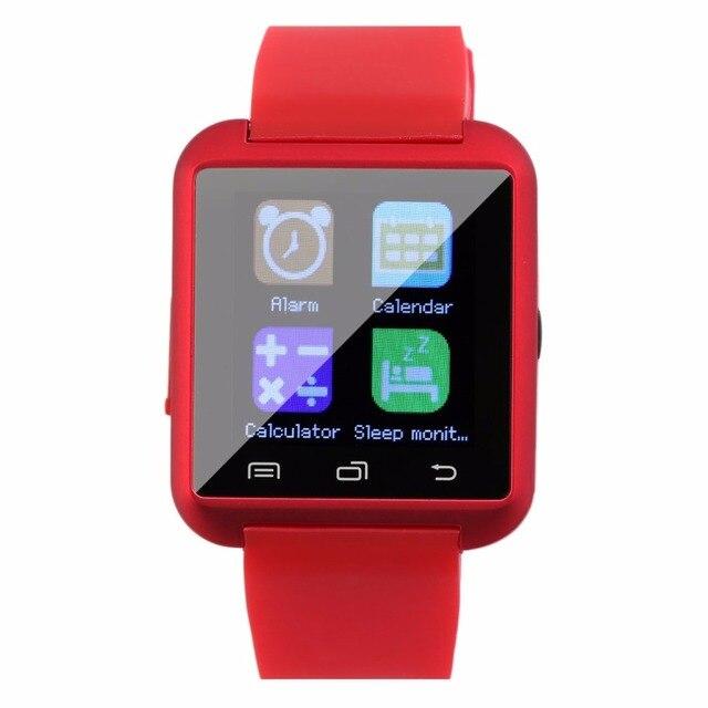 """1.5 """"شاشة TFT LCD الرياضة U8 بلوتوث متعددة اللون الذكية ساعة معصم الهاتف زميله ل فون الروبوت الهواتف ارتداء 2018 جديد"""