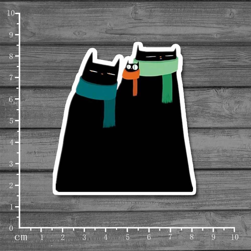 Zwarte Kat Waterdichte PVC Laptop Notebook Huid Sticker Auto Styling Home decor jdm Decal Voor kid Speelgoed Koffer Stickers [single]