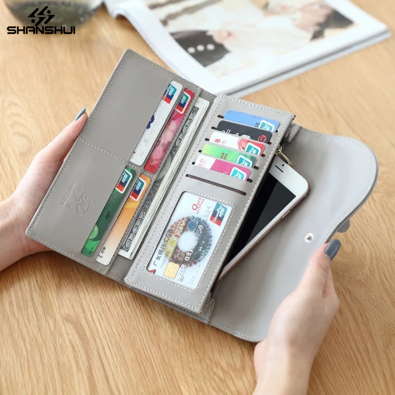 Wallet Case for XIAOMI Redmi 4X HUAWEI iPhone 6 <font><b>7</b></font> <font><b>8</b></font> <font><b>X</b></font> Large Capacity Phone Bag PU Leather Card Slot Photo Frame Flower Pouch
