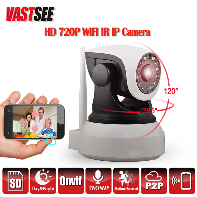 HD 720P Wireless Wifi IP Camera Indoor Pan/Tilt IR CUT Night Vision Support 64G SD Card Security CCTV Cameras de seguranca