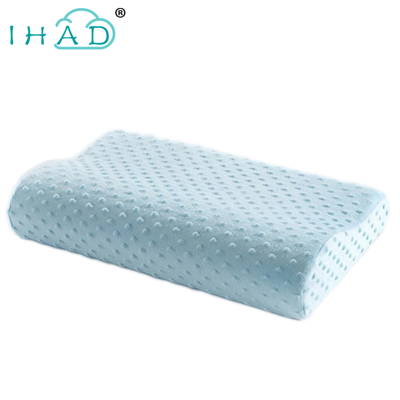 Bubble flannel Memory Pillow Neck protection Slow Rebound Memory Foam Pillow Cervical Health Care Orthopedic Neck Foam Pillows
