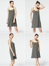 Bra-Top Home Wear Nightshirt 2019 New Women Long Nightgown Modal Solid Nightwear Sleeveless Sleepshirts Sexy Sleeping Dress 0148