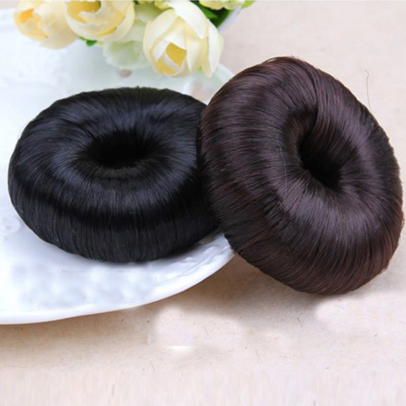 1PC New Elegant Hair Tool Girls Wigs Elastic Hair Band Black Brown Hair Ropes HeadBands For Women Tie Ponytail Hair Accessories stand collar zip up printed spliced pu jacket
