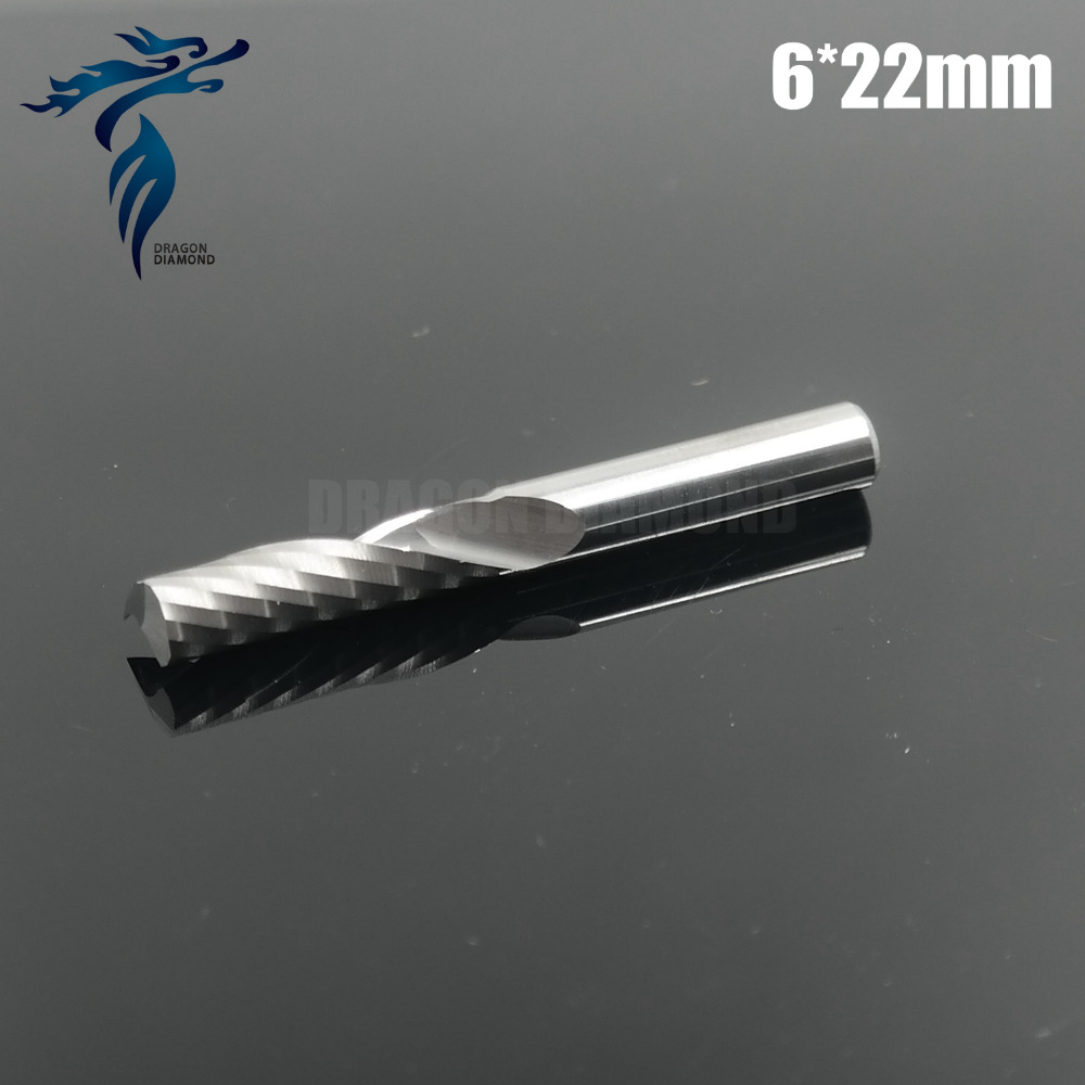 High Quality 5pcs 6mm 1/4 Tungsten Carbide One Flute End Mill Cutter Sets, on Wood CNC Cutting Machine Tools Router Bits 6 32mm aa series one spiral flute bits tungsten carbide end mill engraving tool bits arylic cutter tools cutting tools