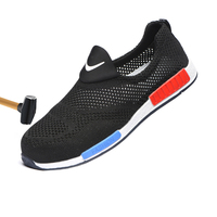 New 2019 fashion men and women steel toe caps anti mite summer breathable deodorant casual site shoes work shoes safety shoes