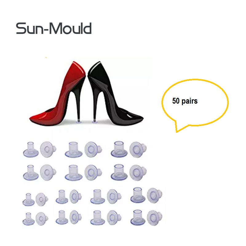 99a8ca4db07f 50 Pairs   Lot Heel Protectors High Heeler Antislip Silicone Latin Stiletto  Dancing Shoes Covers Heel