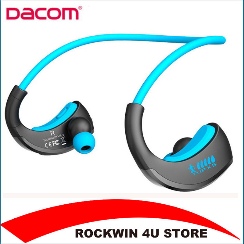 DACOM Armor IPX5 Waterproof Sports Headset Wireless Bluetooth V4.1 Earphone Ear-hook Running Headphone with Mic Music Playing