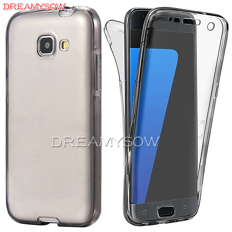 Front+Back Full Body Case for Samsung A3 A5 A7 J2 J3 J5 J7 2017 2016 2015 Touchable Shockproof Anti-Scratch Protective Cover