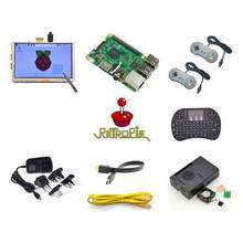 Raspberry Retropie Pi 3 Modelo B Kit Main Board with 14 Inch Screen and Case and Cable Work Perfect and Free Shipping(China)
