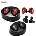 Lemado TWS Bluetooth Earbuds True Wireless Mini Stereo Earphone with Charging Socket play music for iphone 7 plus xiaomi Samsung