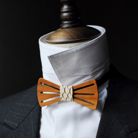 Free Shipping New Male men's fashion casual Handmade log design series Headwear Western bow tie married groom birthday gift man