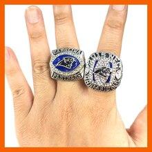 Nueva Llegada Para NFC 2003/2015 Anillos Set Carolina Panthers Super Bowl Anillo de Campeón de Réplica para Los Aficionados