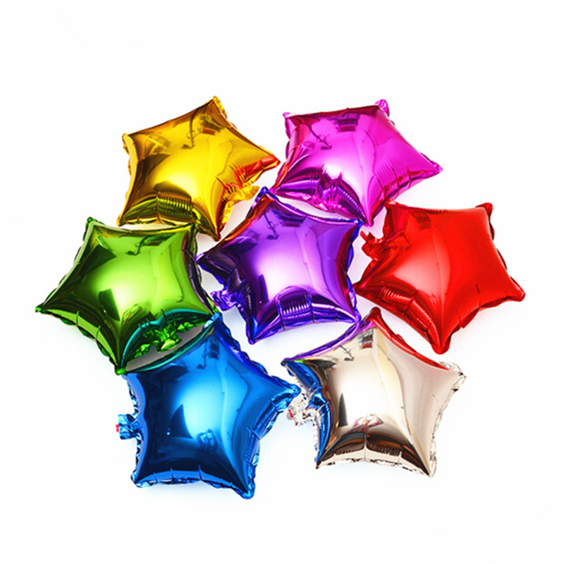 6pcs Star Foil Helium Balloons Inflatable children classic toys happy Birthday b