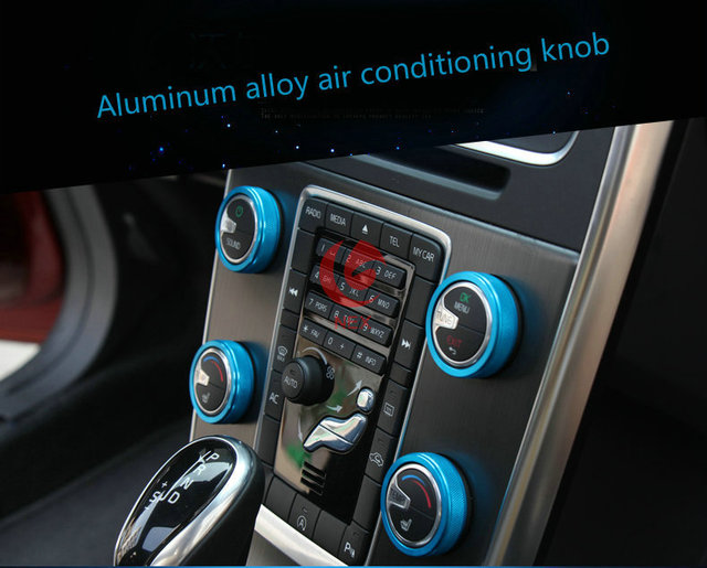 auto onderdelen airconditioning knoppen aluminium auto accessoires voor volvo v60 xc60 v40 s60