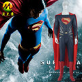 Upgraded Version Batman v Superman Dawn of Justice Clark Kent Tights Cosplay Costume with Cape and Shoes MZX-106-13