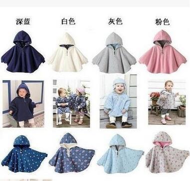 Calor! 2016 casaco de lã do bebê manto bebê 2-exterior flores capa poncho casaco bebê 1-2 anos de idade as crianças roupas livre grátis