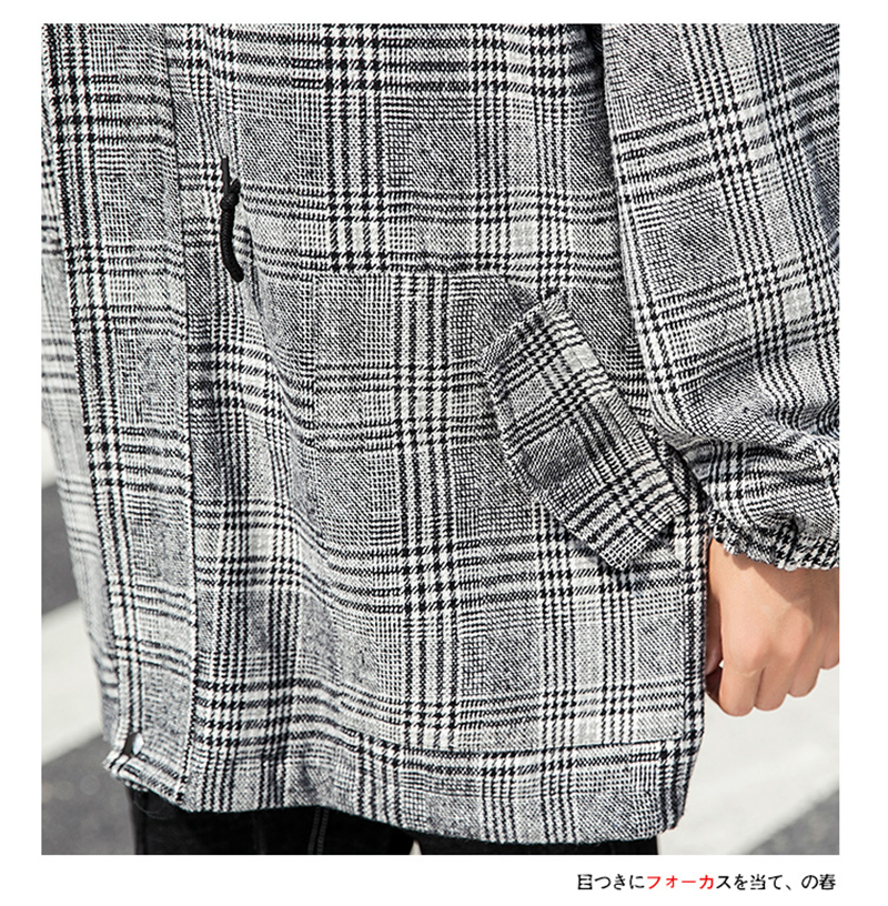 Male Long Coat Oversize Lapel Button Sobretodos Hombre Overcoat Streetwear (38)