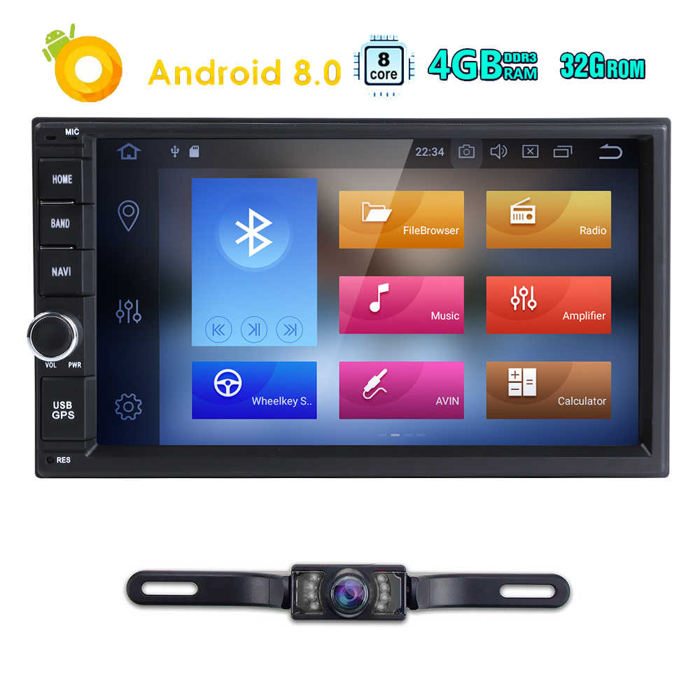 Newest Hizpo 4GB RAM 32G ROM 2Din HD 7''Android8 0 Universal