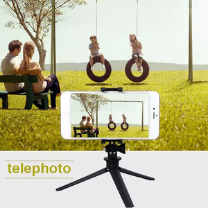 Image 4 - Trípode de poste con temporizador automático, cámara con temporizador automático para teléfono móvil, base compacta y triangular individual y portátil