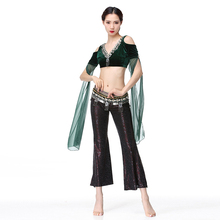 3 PCS Tribal Belly Dance Costume Outfit Set Top Belt Pants Suit Carnival Dancewear Performance Outfits