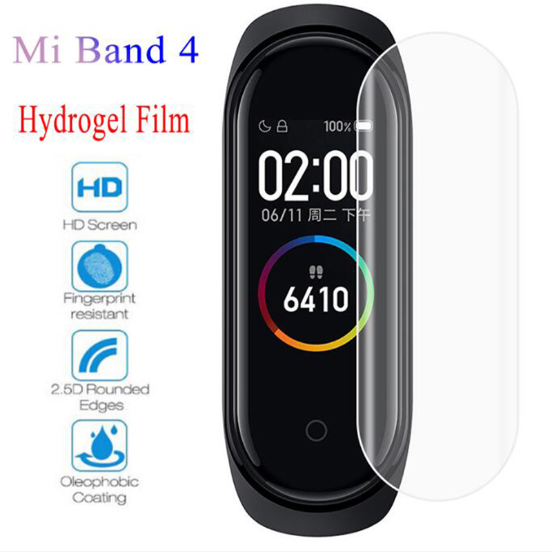 Screen-Protector-Film Smart-Bracelet Mi-Band 3-Not-Tempered-Glass Xiaomi Full-Cover