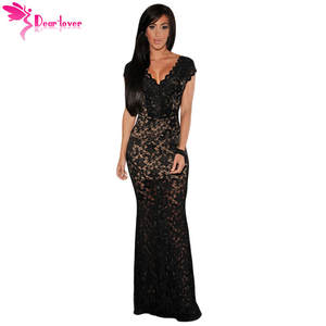 dear-lover Party Vintage Sexy Summer Black Lace Dress 8903f9dc5ace
