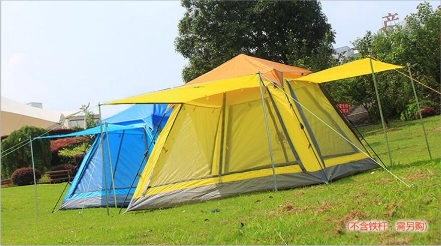 PU3000 Waterproof 3 4 persons spinning type Automatic Tents Portable Multi gate Durable Camping Tent