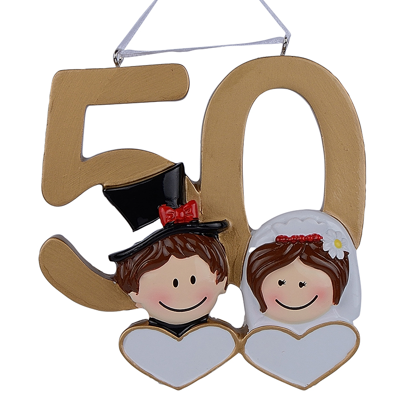 1st Wedding Anniversary Decoration Ideas At Home: Personalized Hand Painted Diy Resin Craft Hanging 50th