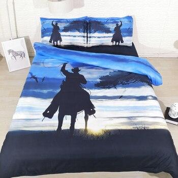 Fanaijia 3d cowboy Duvet Cover set with pillowcase queen bedding set animal Bedline best gift king size bed set