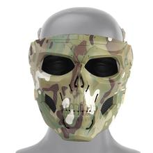 Tactical Paintball Skull Mask Breathable Hunting Shooting Skull Mask Halloween Party Supplies Military Full Face Airsoft Masks mr hunkle colorful solid masks cosplay costume balaclava hats paintball halloween tactical airsoft ghost skull full face mask