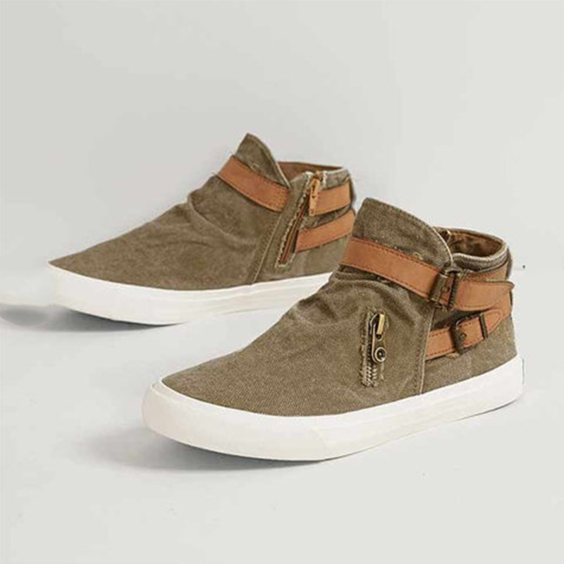 Laamei 2019 ผู้หญิง Vulcanize รองเท้ากลางแจ้งรองเท้าสุภาพสตรีแบนรองเท้าแฟชั่น Retro รองเท้าผ้าใบขนาด Plus