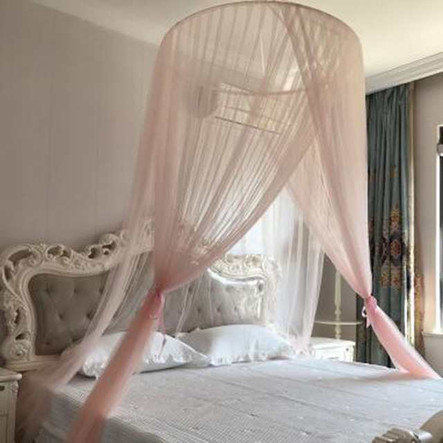 Summer Palace Mosquito Nets Curtains Bed Adults Canopy Insect Net Klamboe Princess Hung Dome Moustiquaire Para
