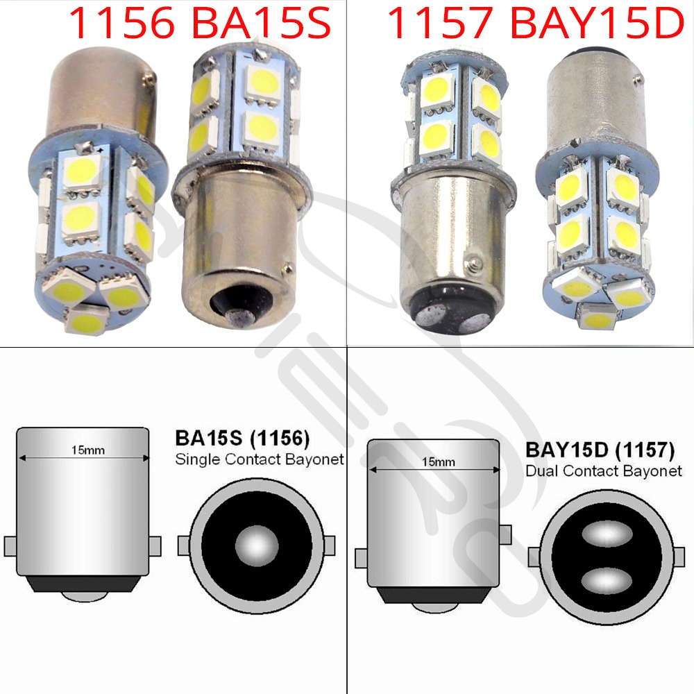 Image 3 - 10X 1156 BA15S 1157 BAY15D P21 5W BA15D 13Led 5050 Auto Led Turn Signal Lights Brake Tail Lamps Auto Rear Reverse Bulbs DC 12V-in LED Bulbs & Tubes from Lights & Lighting