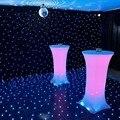 10 pcs 60*100 cm Trecho Elástico Mesa De Bar Alta Cobre Spandex Lycra Toalhas de Mesa de Cocktail Para A Festa de Evento Banquete de casamento Decorações