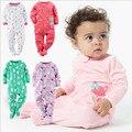 2016 original new arrival one-pedaço do bebê da menina do menino 100% algodão sono snap-up & play bodysuit clothing recém-nascidos 3 m-12 m