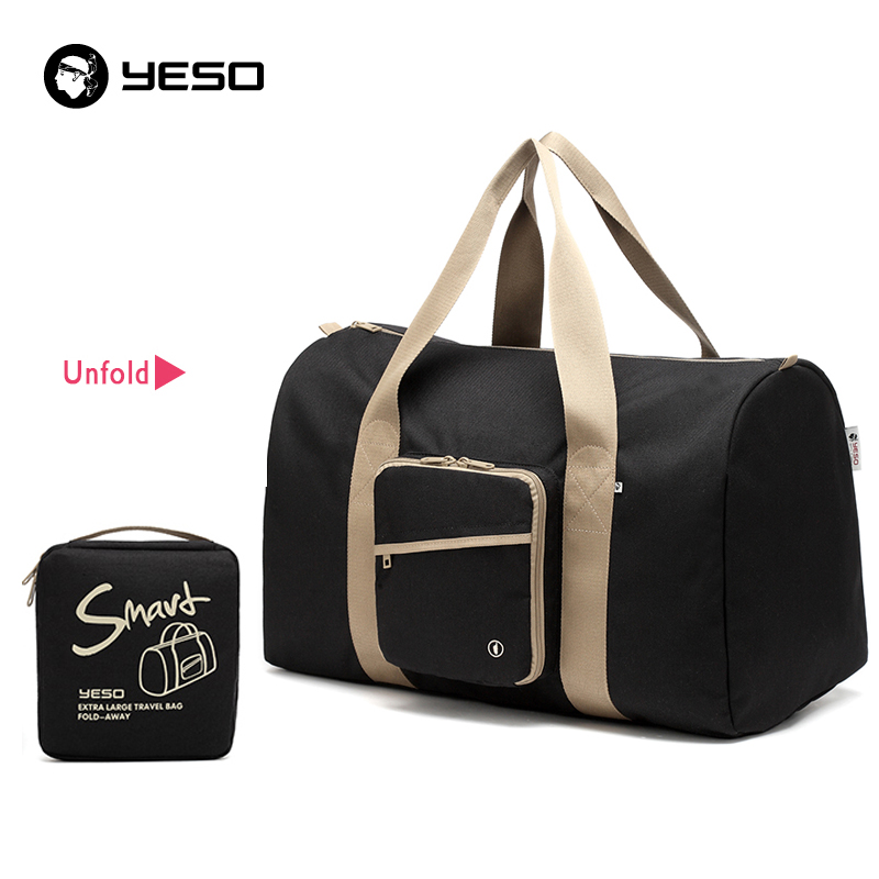 YESO Large Capacity Travel Duffle Tote Bag 2019 Nylon Waterproof Hand Luggage Folding Bag Men Women