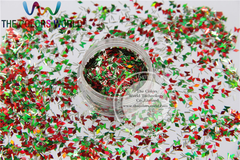 Xmas-9 Mix shiny christmas glitter holographic  colors and  shapes spangles glitter for nail  Art  or  DIY decoration 1pack=50g tcf510 solvent resistant neon rose carmine color mickey mouse shape spangles for nail polish and other diy decoration1pack 50g