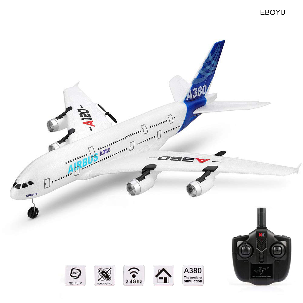 Wltoys XK A120 Airbus A380 Model Remote Control Plane 2.4G 3CH EPP RC Airplane Fixed-Wing RTF RC Wingspan Toy image